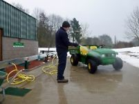 Safely below ground, ClearWater systems can usually be used all year round, as here at Elsham Golf Club