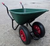 100-litre clippings barrow with drainage. Keep one on your pad to allow drainings back into the system