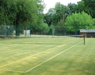 Tennis Court Moss Removed